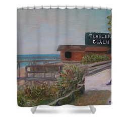Flagler Beach Shower Curtain
