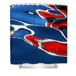 Floating On Blue 5 Shower Curtain by Wendy Wilton