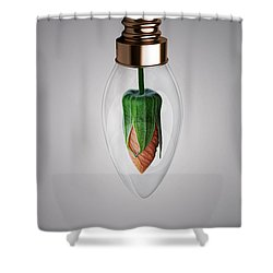 Flower In Bulb Shower Curtain