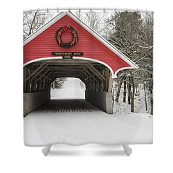 Flume Covered Bridge - White Mountains New Hampshire Usa Shower Curtain