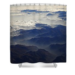 Flying Over The Alps In Europe Shower Curtain by Colette V Hera  Guggenheim