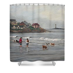 Fog Rolling In On Good Harbor Beach Shower Curtain