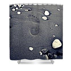Footprint Shower Curtain by Nina Ficur Feenan