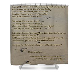 Footprints In The Sand Poem Shower Curtain