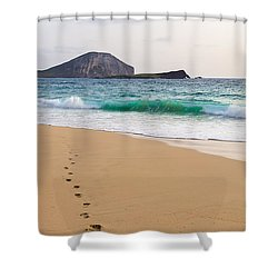 Footprints To The Ocean Shower Curtain