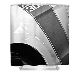 Ford Mustang Boss 302 Emblem Shower Curtain by Jill Reger
