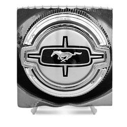 Ford Mustang Gas Cap Shower Curtain by Jill Reger