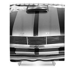 Ford Mustang Grille Shower Curtain by Jill Reger