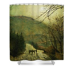 Forge Valley Shower Curtain by John Atkinson Grimshaw