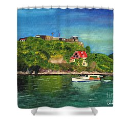 Fort George Grenada Shower Curtain