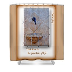 Shower Curtain featuring the photograph Fountain Of Life by Larry Bishop