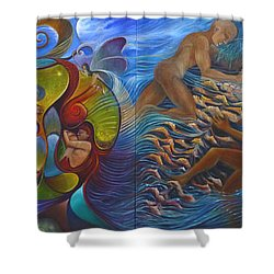 Four Seasons Shower Curtain by Claudia Goodell