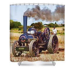 Fowler Ploughing Engine Shower Curtain