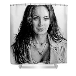 Foxy Shower Curtain by Andrew Read