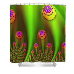 Fractal Fantasy Garden Shower Curtain