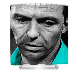 Shower Curtain featuring the mixed media Frank Sinatra Art by Marvin Blaine