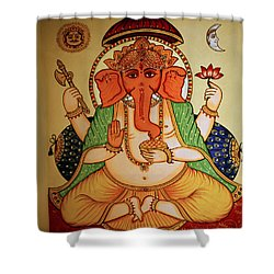 Spiritual India Shower Curtain