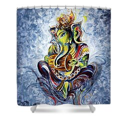 Musical Ganesha Shower Curtain by Harsh Malik