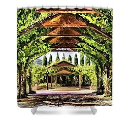 Shower Curtain featuring the painting Garden by Muhie Kanawati