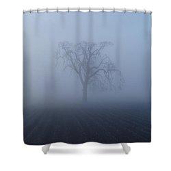 Garry Oak In Fog  Shower Curtain