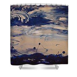 Genesis I Shower Curtain by Luz Elena Aponte