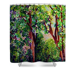 Shower Curtain featuring the painting Gentle Breeze  by Eloise Schneider
