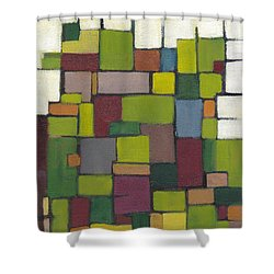 Geometric Line Series Shower Curtain