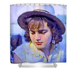 German Girl On The Rhine Shower Curtain by Chuck Staley