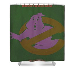 Shower Curtain featuring the digital art Ghostbusters Movie Poster by Brian Reaves