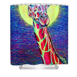 Shower Curtain featuring the painting Giraffe by Viktor Lazarev