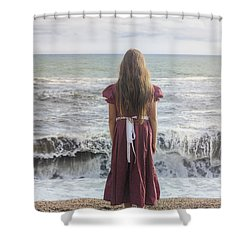 Girl On Beach Shower Curtain by Joana Kruse