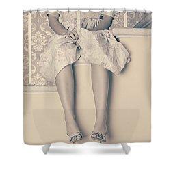 Girl On Steps Shower Curtain by Joana Kruse