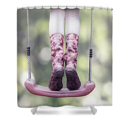 Girl Swinging Shower Curtain by Joana Kruse