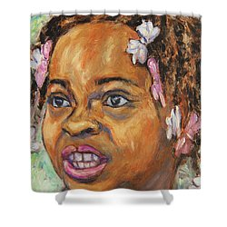 Girl With Dread Locks Shower Curtain
