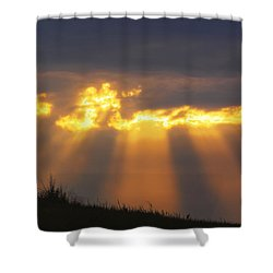Shower Curtain featuring the photograph Glorious Sunrise by Rob Graham