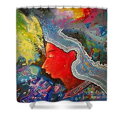 Sold Out Shower Curtain by Sanjay Punekar