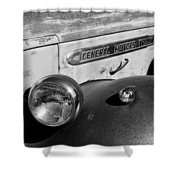 Gmc Truck Side Emblem Shower Curtain by Jill Reger