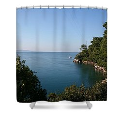 Shower Curtain featuring the photograph Gokova Korfezi Akyaka by Tracey Harrington-Simpson