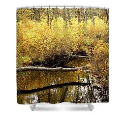 Golden Creek Shower Curtain