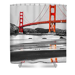 Golden Gate - San Francisco - California - Usa Shower Curtain by Luciano Mortula