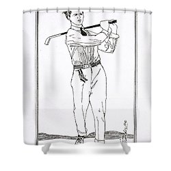 Golfer 1915 Shower Curtain by Ira Shander
