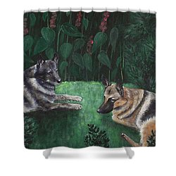 Good Friends Shower Curtain by Anastasiya Malakhova