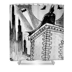 Shower Curtain featuring the painting Gotham  by Salman Ravish