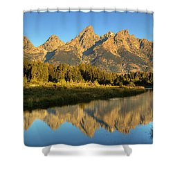 Shower Curtain featuring the photograph Grand Teton by Alan Vance Ley