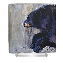 Grandfather Bear Shower Curtain by J W Baker
