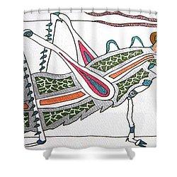 Grasshopper II Shower Curtain