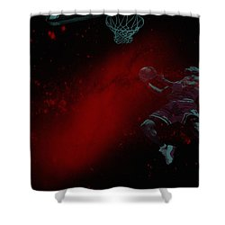 Shower Curtain featuring the mixed media Gravity by Brian Reaves