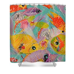 Great Barrier Reef Fish Shower Curtain
