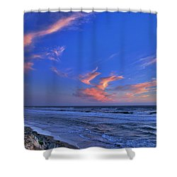 Great Highway Sunset Shower Curtain