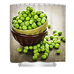 Green Peas Shower Curtain by Elena Elisseeva